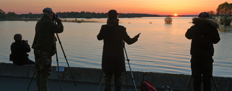Photo de levé de soleil et silhouettes de photographes - aurore