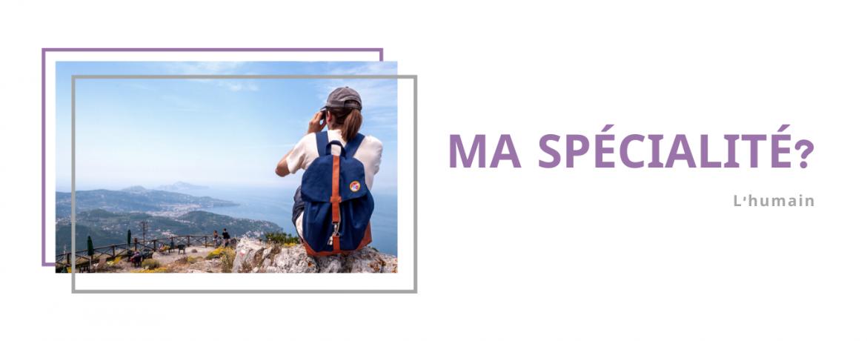 Bandeau spécialiste avec photo de paysage de vacances