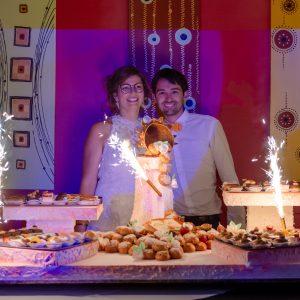 Découverte des gâteaux des mariés