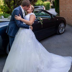 Couple de marié, baisé de mariés