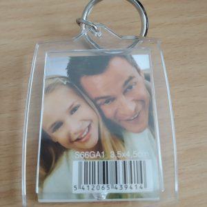 Porte clé en plastique à personnalisé avec une ou 2 photos
